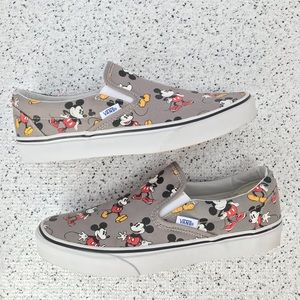 Vans Classic Disney Mickey Mouse Slip On Shoes